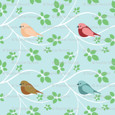 (Small) White Branches and Birds