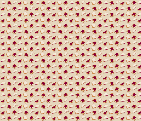 (Small) Peanut Butter & Jelly Sandwiches fabric by greencouchstudio on Spoonflower - custom fabric