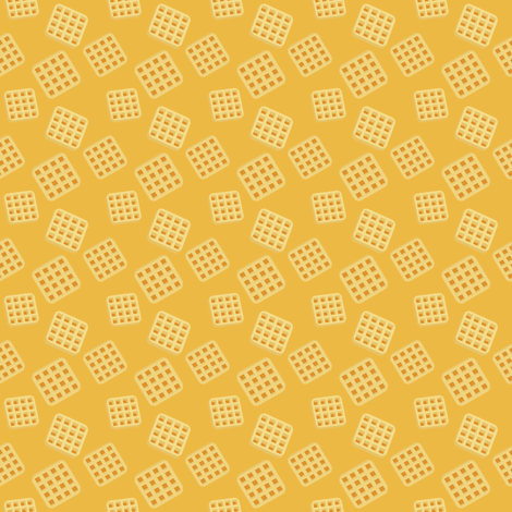 (Small) Breakfast Waffles fabric by greencouchstudio on Spoonflower - custom fabric