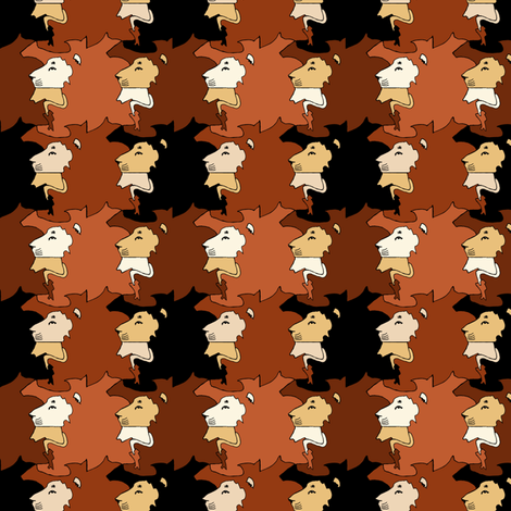 Lion plaid fabric by pond_ripple on Spoonflower - custom fabric