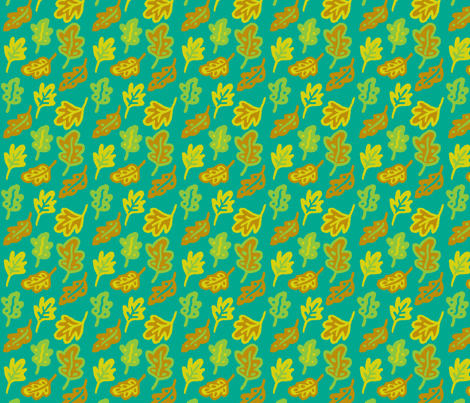 Colortest-Leaves-4in-bright-palette fabric by mina on Spoonflower - custom fabric