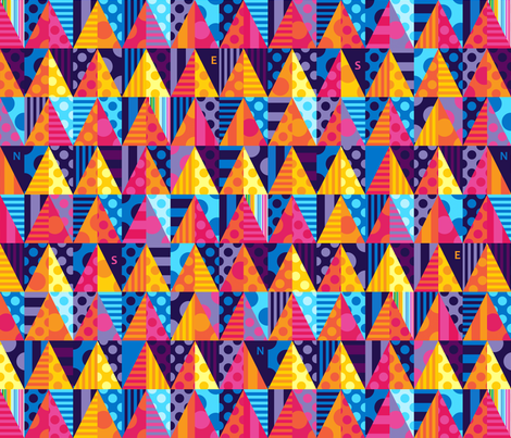 Hot Triangles fabric by spellstone on Spoonflower - custom fabric