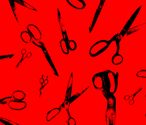 Scissors - Less Dense fabric by candyjoyce on Spoonflower - custom fabric