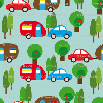 Caravan and Trees lighter (Illustrator)