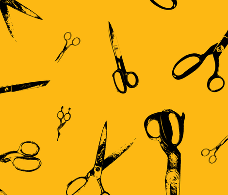 Scissors  fabric by candyjoyce on Spoonflower - custom fabric
