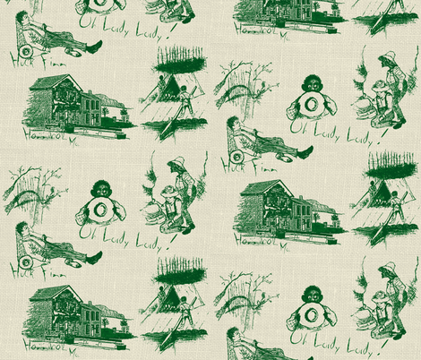 Freedom / Green fabric by paragonstudios on Spoonflower - custom fabric