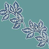Diagonal-leaves-white-outline-6in-bluetexture-teal_shop_thumb