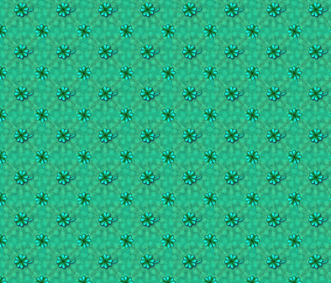 ©2011 Mutant Shamrocks fabric by glimmericks on Spoonflower - custom fabric