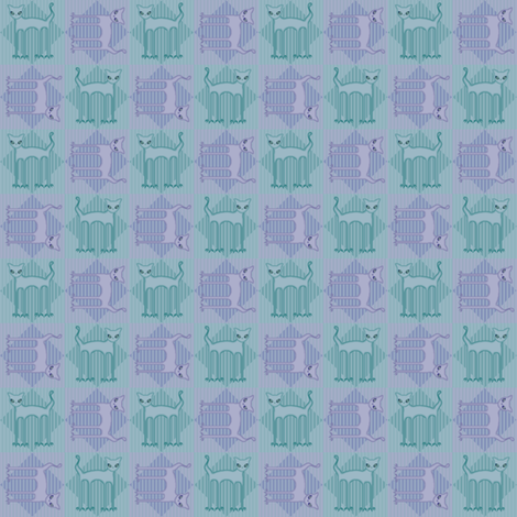 ©2011 SkittyCats fabric by glimmericks on Spoonflower - custom fabric