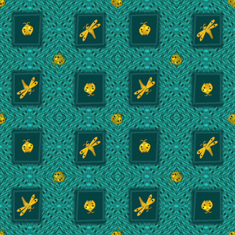 ©2011 Gold Bugs fabric by glimmericks on Spoonflower - custom fabric