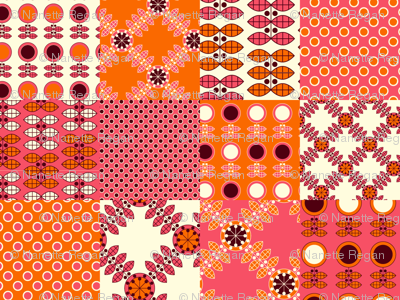 Patchwork in Pink and Orange