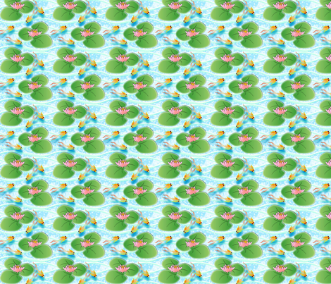 Lilypad fabric by glimmericks on Spoonflower - custom fabric