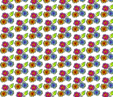 ©2011 Glimmericks Floral 3 fabric by glimmericks on Spoonflower - custom fabric