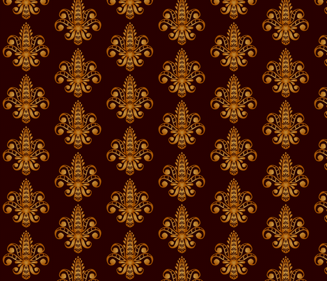 ©2011 Fleur de Lis - Brun fabric by glimmericks on Spoonflower - custom fabric