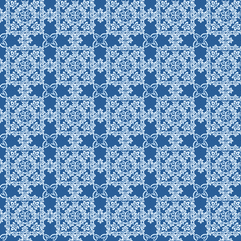 ©2011 Irish Lace blue fabric by glimmericks on Spoonflower - custom fabric