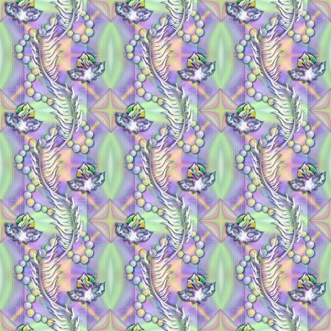 ©2011 Mardigras fabric by glimmericks on Spoonflower - custom fabric