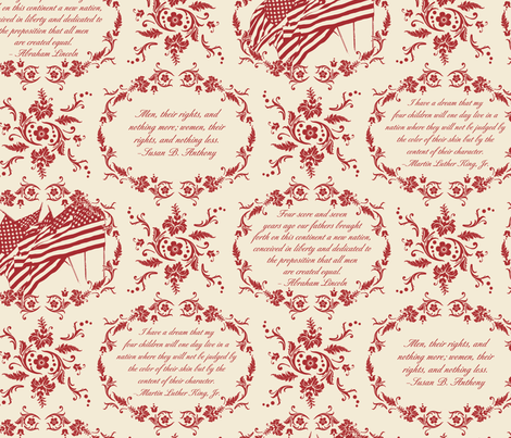 Civil Rights Toile fabric by jennartdesigns on Spoonflower - custom fabric