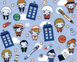 (Small) Eleven Traveling Doctors and Blue Phone Boxes