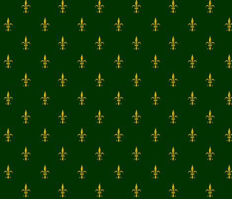 ©2011 Fleur de Lis 2010 green gold fabric by glimmericks on Spoonflower - custom fabric