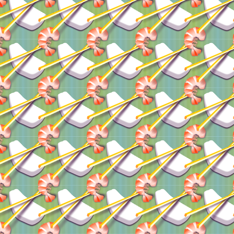 ©2011 sushi fabric by glimmericks on Spoonflower - custom fabric