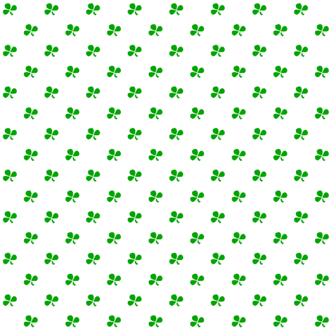 Spring Green Clovers - Doll Scale fabric by follynights on Spoonflower - custom fabric
