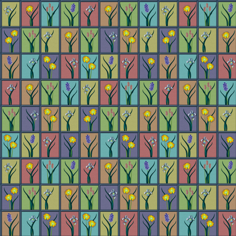 ©2011 spring fabric by glimmericks on Spoonflower - custom fabric