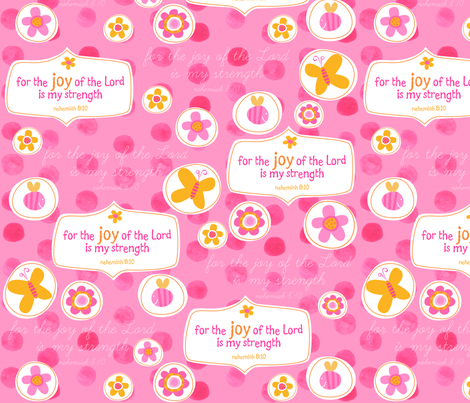For the Joy of the Lord is my Strength fabric by bzbdesigner on Spoonflower - custom fabric