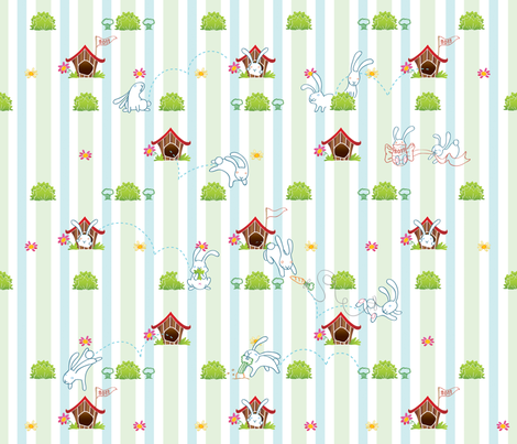 Year of the Bunny! fabric by goyatorres on Spoonflower - custom fabric