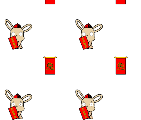 Ricky_Rabbit fabric by regalneedle on Spoonflower - custom fabric