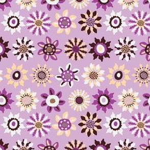 Retro Floral Fabric in Pink by Kezia