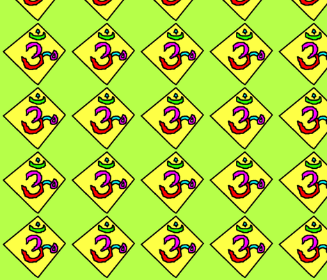 om symbol fabric by cherthebear on Spoonflower - custom fabric