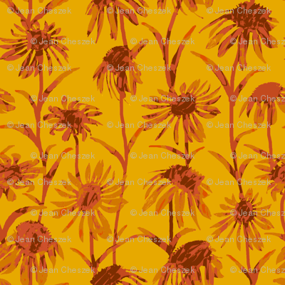 Orange  Flowers - Bright