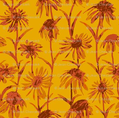 Orange  Flowers - Bright