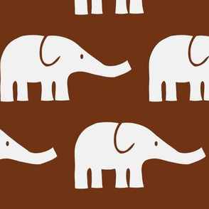 LARGE Elephants in brown