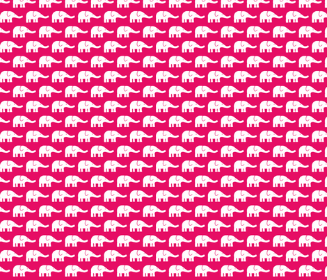 SMALL Elephants hotpink fabric by katharinahirsch on Spoonflower - custom fabric