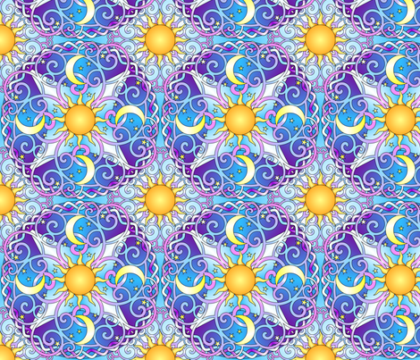 Celestial Dream Set 1 fabric by shala on Spoonflower - custom fabric