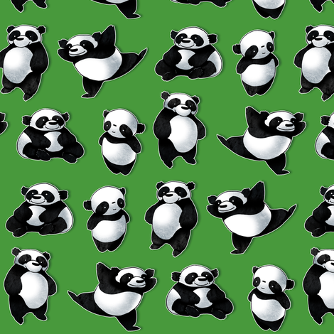 Panda Bears fabric by jadegordon on Spoonflower - custom fabric