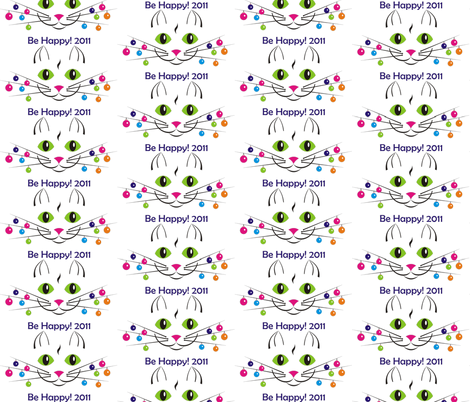 cat_happy_year fabric by andreysoldatenko on Spoonflower - custom fabric