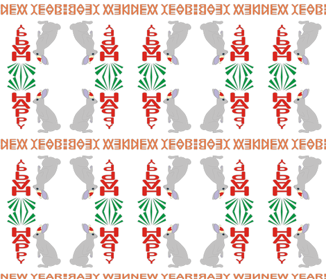 rabbit fabric by andreysoldatenko on Spoonflower - custom fabric