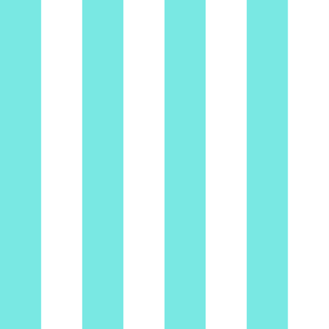turquoise white 1 inch stripe fabric by glimmericks on Spoonflower - custom fabric