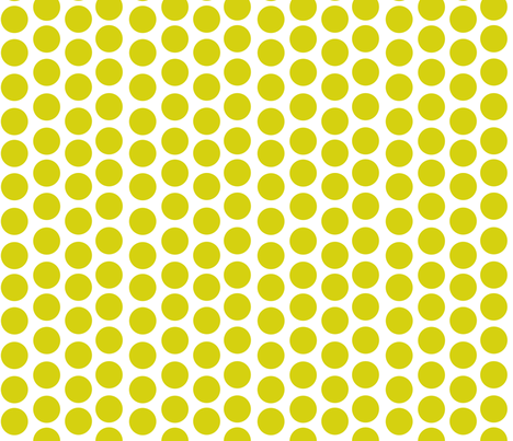 Lime Green Disks fabric by carinaenvoldsenharris on Spoonflower - custom fabric