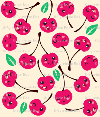 Happy Cherries (white)