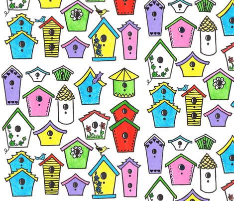 Bird House Fun fabric by joycemj on Spoonflower - custom fabric