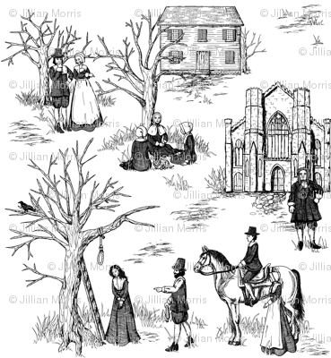 Salem Witch Trials Toile