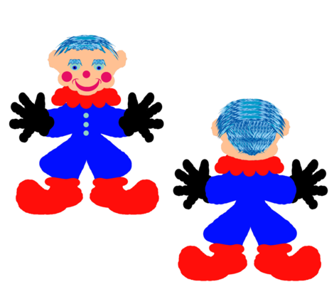 A ClownDoll-white- Blue fabric by grannynan on Spoonflower - custom fabric