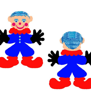A ClownDoll-white- Blue