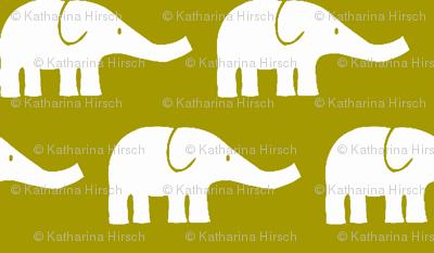 MEDIUM Elephants in green-ch