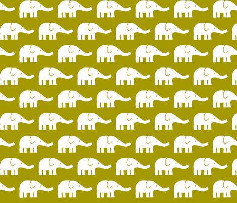 MEDIUM Elephants in green-ch fabric by katharinahirsch on Spoonflower - custom fabric