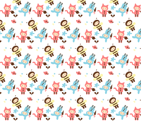Critter Kids fabric by malien00 on Spoonflower - custom fabric