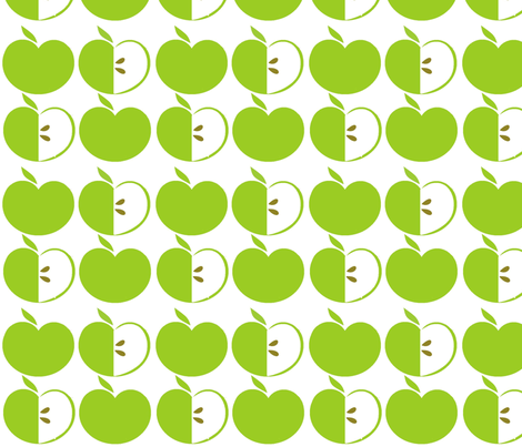 Green Apples fabric by simplysweet on Spoonflower - custom fabric
